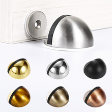 Non Punching Door Stops Sticker Hidden Stainless Steel Rubber Door Stopper Door Holders Catch Floor Mounted Nail-free Door Stops