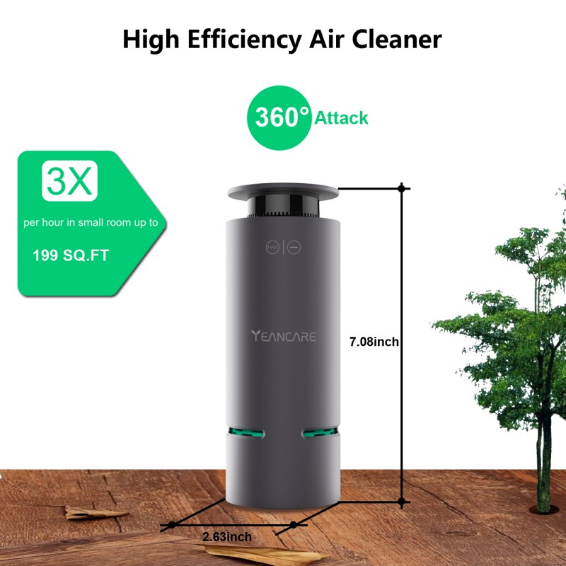 CCTUNG Portable Chlorine Dioxide Air Purifier for Sterilization Formal dehyde Benzenes Odor Removing & Harmful Microorganisms