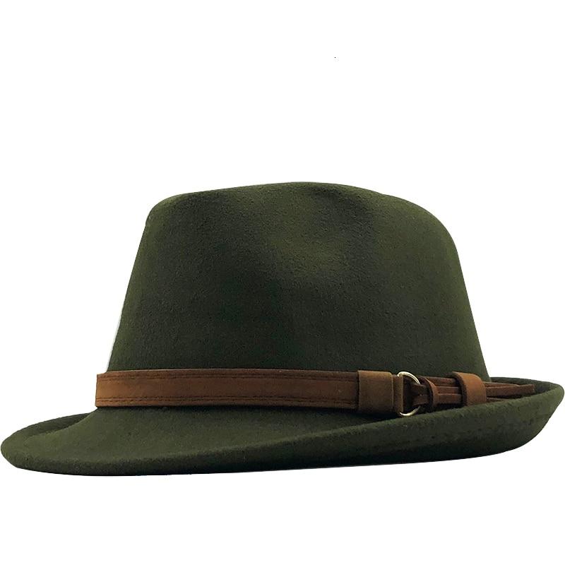 New Wool Women Men Fedora Hat For Winter Autumn Elegant Lady Gangster Trilby Felt Homburg Church Jazz Hat 55-58CM Adjustable