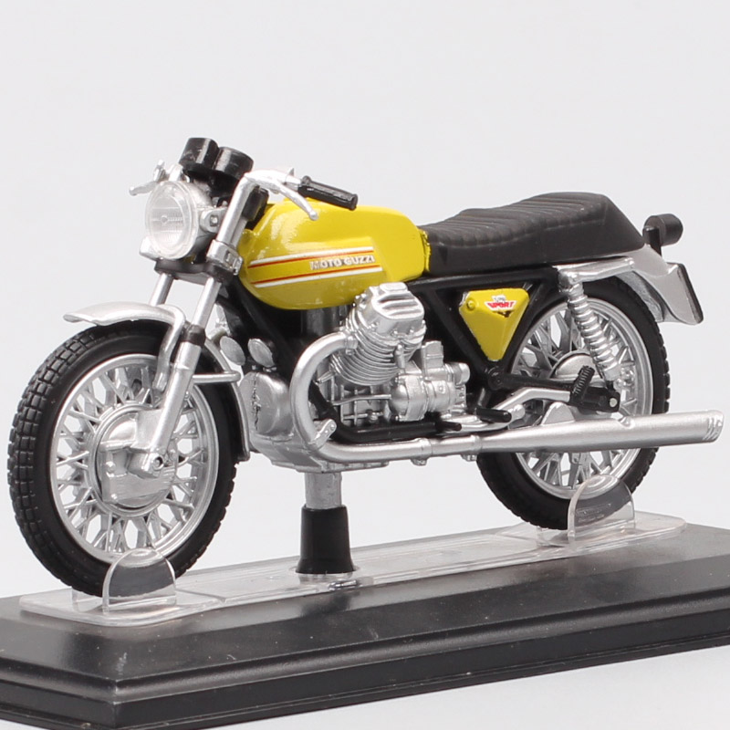 1/22 Scale Vintage Tiny Starline Moto Guzzi Griso V7 Sport Cafe Racer Motorcycle Diecast Vehicle Model Bike Toy Acrylic Box Boys