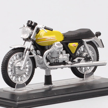1/22 escala vintage tiny Starline moto Guzzi Griso V7 Sport Cafe Racer moto rcycle Diecast vehículo modelo bici juguete acrílico caja niños