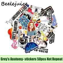 50pcs Greys Anatomy tv show characters Stickers decal scrapbooking diy pasters decoration phone waterproof cartoon accessories