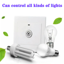 DC Smart Voice Control Light Sensor Switch Wall Mounted Voice Sound & Light Controlled Sensor Activated Lamp Switch
