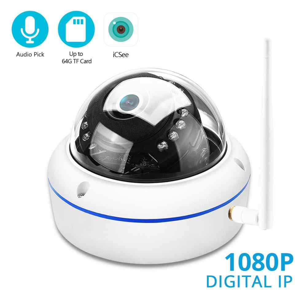 BESDER 1080P Audio Record Wifi Dome IP Camera Wifi vandalismebestendig Draadloze Camera 'S Sd-kaartsleuf ONVIF CCTV wired Security Camera