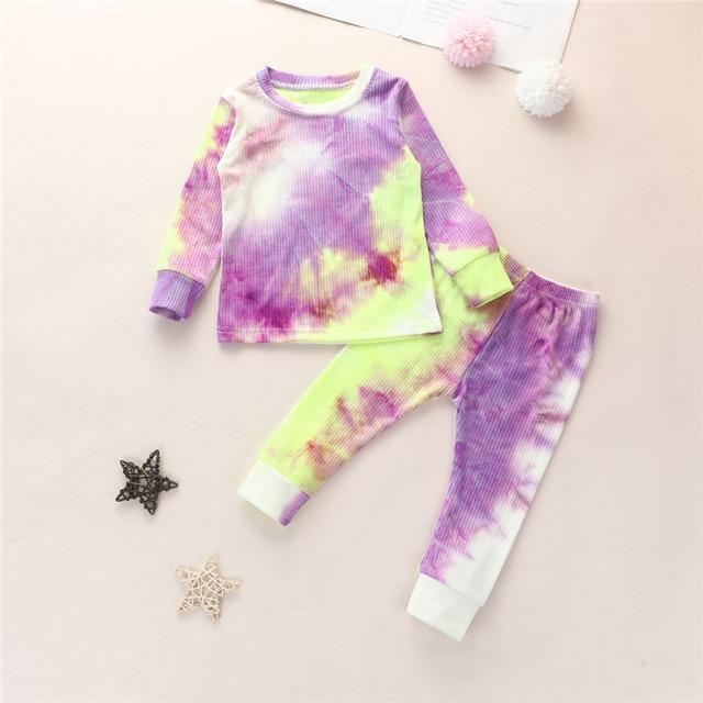 Tie Die Matching Pajama Set 3
