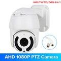 1080P AHD Telecamera Speed Dome Visione Notturna di IR PTZ CCTV di Sorveglianza CVBS TVI CVI AHD Fotocamera 2MP Cupola Coassiale RS485 di Controllo