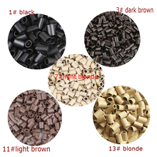 Hair-Extension Oval No-Flared Micro-Rings-Link Copper 1000PCS for Flat-End
