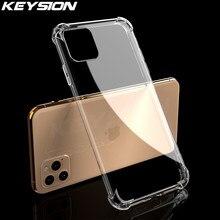 KEYSION – coque transparente antichoc en silicone souple pour iPhone, compatible modèles 11 Pro, 11 Pro Max, XS, 7, 8 Plus, XR