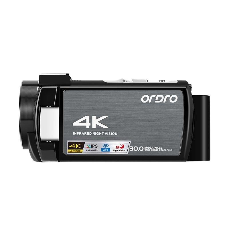 Ordro wifi AE8 4K видеокамера цифровая Full HD сенсорный экран ИК Инфракрасная камера ночного видения профессиональная видеокамера