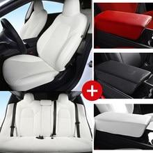 Fundas de asiento impermeables para Tesla Model 3, accesorios para interiores, impermeables, antisuciedad, para las cuatro estaciones