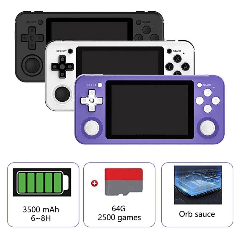 Rg351p handheld consola de jogos ps1 jogador