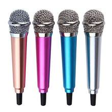 Micrófono estéreo portátil de 3,5mm para estudio, Mini micrófono de Audio para Karaoke, teléfono inteligente, portátil, PC, escritorio, KTV