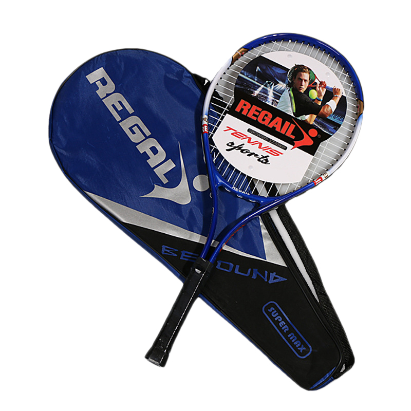 REGAIL 1Pcs Iron Alloy Tennis Racket Racquets Equipped With Bag Tennis Grip Size 4 1/4 Racket From Tennis Bag
