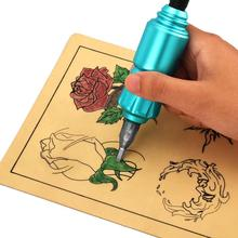 Rocket Shaped Aluminum Tattoo Machine Rotary Pen Permanent Makeup Equipment Blue Green