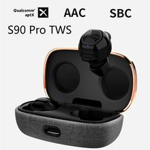 Astrotec S90 Pro TWS Dual BA Mini Wireless Bluetooth APTX 5.0 Headset Noise Reduction True Wireless
