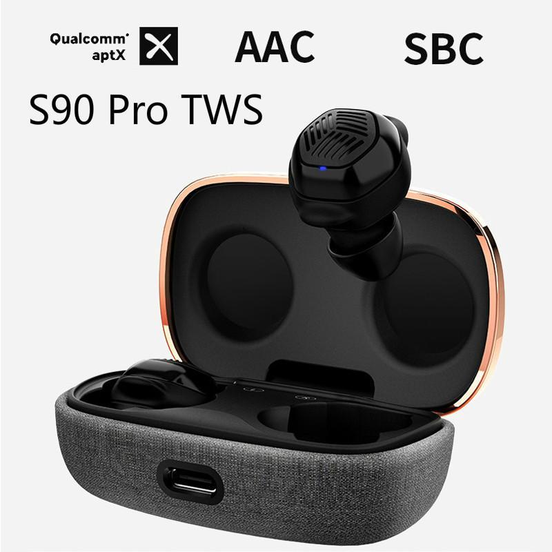 Astrotec S90 Pro TWS double BA Mini sans fil Bluetooth APTX 5.0 casque réduction du bruit véritable sans fil écouteurs Micro avec Micro HD