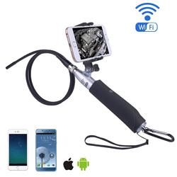 1.2m Stainless Steel Retractable Portable Camera Terminal Mini-DV Lever WIFI Camera 5.8GHZ Aerial Photography