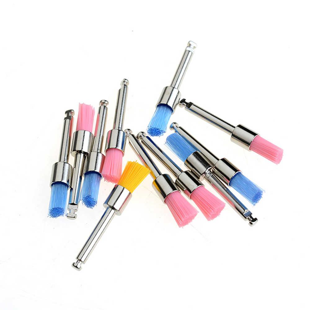 100 шт./кор. одноразовые щетки для полировки зубов 0,6 см мягкое устройство для полировки зубов инструмент для отбеливания зубов Зубная Щетка