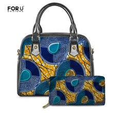 FORUDESIGNS Luxury Handbags Women 2020 Fashion African Tradition 2PCS/Set Ladies Messenger Shoulder Bag Woman Pu Leather Femme