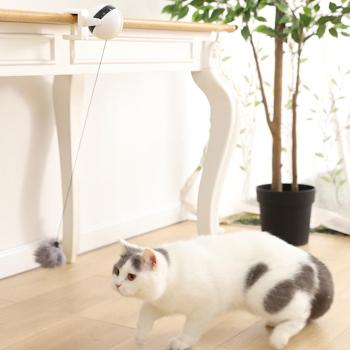 Desk-Clipped and 10Kg Load Bearing Smart Pet Toy with Automatic Rotating Lifting Ball