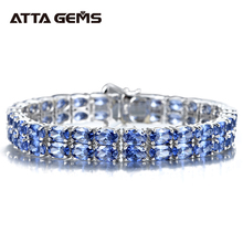 Tanzanite Sterling Silver Bracelet 58 Pieces of Tanzanite Royal And Luxury Style For Women Fine Jewelry New Year Gifts