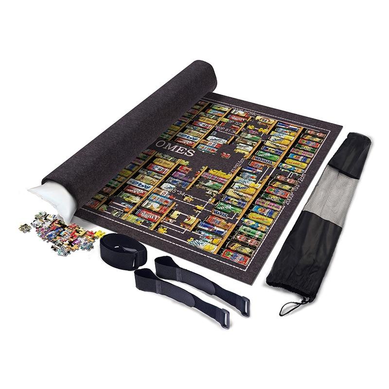 2000/3000/6000pcs Large Puzzles Mat Jigsaw Roll Mat Playmat  Storage Portable Travel Games Felt Play Mat