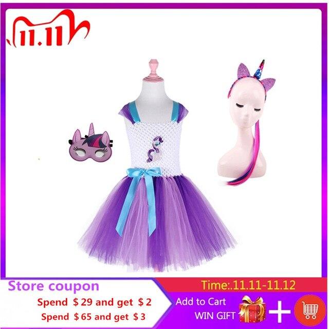 Robe Tutu pour filles, 3 pièces, déguisement poney classique pour fête danniversaire, Halloween, pour petite fille en bas âge