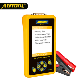 AUTOOL BT460 Car Battery Tester 12V 24V Automotive Batteries Analysis Meter Quick Cranking Charging Diagnostic Tool PK KW600