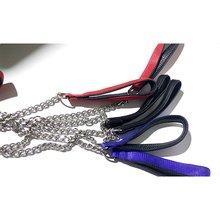 Цепь из нержавеющей стали, поводок для собак, тяжелый металлический хромированный поводок для домашних животных, поводок для маленьких и средних собак, веревка для прогулок