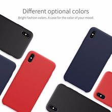 NILLKIN for iPhone XS Case Cover Luxury Flex Pure Liquid Silicone Soft Back Cover Case for Apple iPhone XR /iPhone X XS MAX(China)