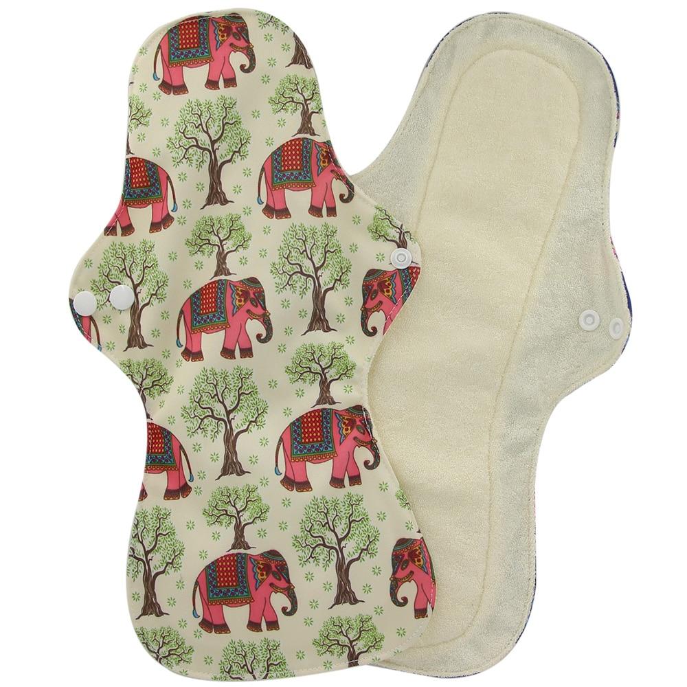 Reusable Hygiene Menstrual Pads Heavy Flow Women Sanitary Pads Organic Bamboo Charcoal Lady Cloth Pad Overnight Use