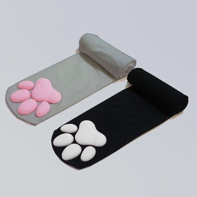 Kawaii Cat Paw long stockings