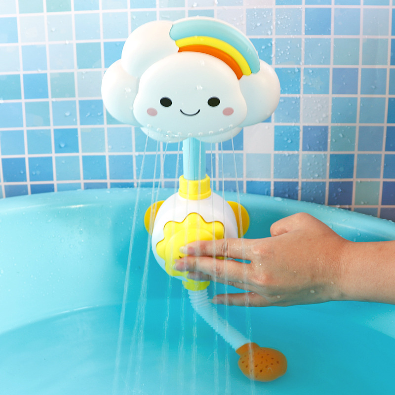 Baby Bath Toys Cloud Bathtub Showers Bathing Spouts Suckers Folding Faucet Children Bath Toys Cute Spray Shower Kids Gift