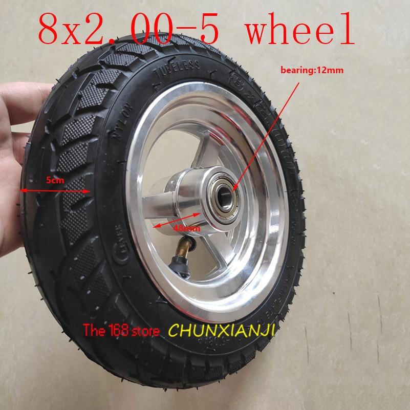 Высокое качество 8x2. 00-5бескамерные колеса DIY 8*2,00-5 вакуумные колеса с легированной втулкой для KUGOO S1 S3 Электрический скутер для взрослых