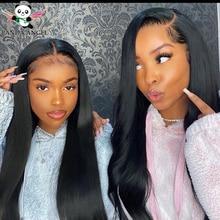Малазийский прямой парик, парики на сетке спереди для черных женщин, предварительно выщипанные парики Remy 8 30 дюймов, парик на сетке, парик на сетке спереди, парики из человеческих волос