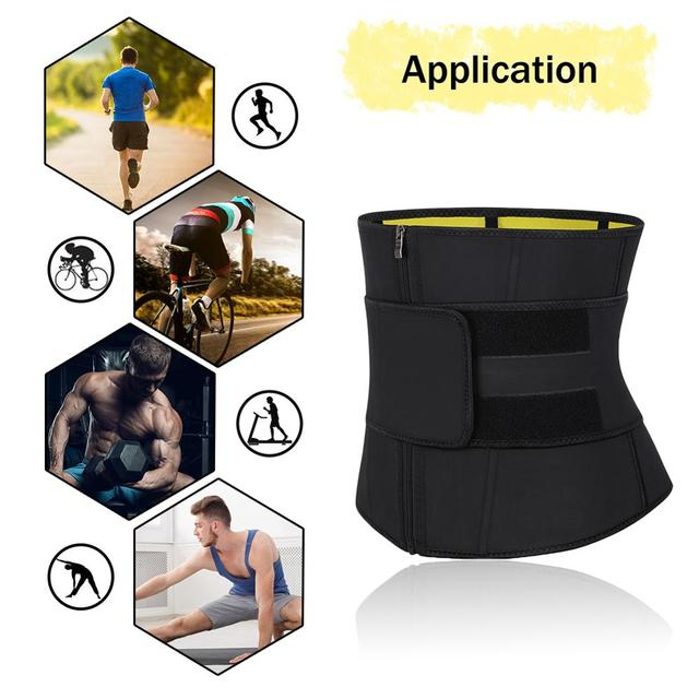 Lover-Beauty Men Waist Trainer Slimming Belt Latex Neoprene Two in One Body Shaper Cincher Tummy Trimmer Shapewear Fitness Strap 3