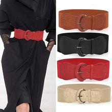 Plus rozmiar pas szeroki duży cummerbunds gorset pasy dla kobiet elegancki płaszcz moda rozciągliwe, modne wysokiej jakości czarny pas kobiet