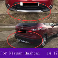 ABS Front And Rear Bumper Skid Protector Guard Plate Auto Accessories Fit For Nissan Qashqai J11 2014 2015 2016 2017