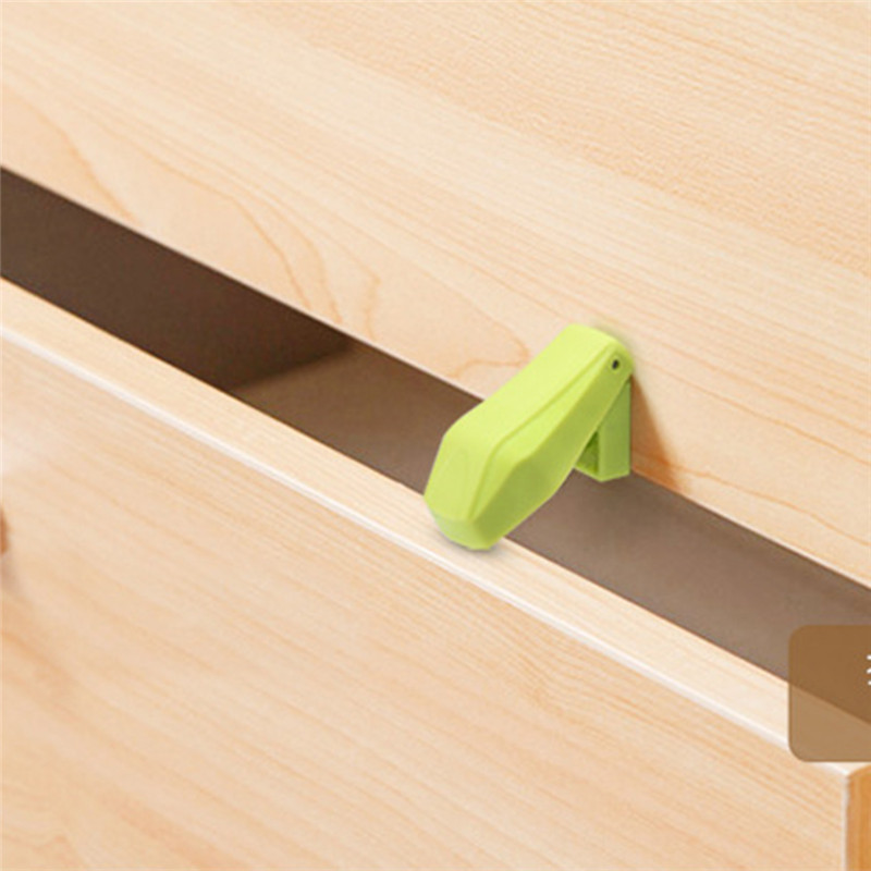 4Pcs/Set Baby Safety Drawer Anti-clipper Cute Baby Safety Cabinet Door Lock Baby Prevention  Drawer Lock Securite Enfant Protect