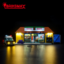 BriksMax Led Light Up Kit For Kwik-E-Mart Building Blocks Lighting Set Compatible With 71016 (NOT Include Model)