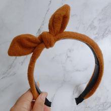 Maxsiti u/осенне зимняя шерстяная повязка с бантом широкие повязки