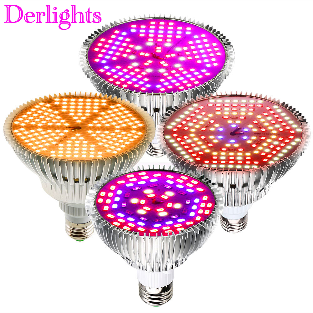 E27 50W 100W 120W Led Grow Light Full Spectrum AC85-265V Indoor Hydroponic Flowers Vegetables Greenhouse Grow Lamp
