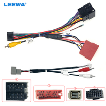 LEEWA Car 16pin Audio Wiring Harness With USB Cable For Lada Vesta Aftermarket Stereo Installation Wire Adapter #CA6768