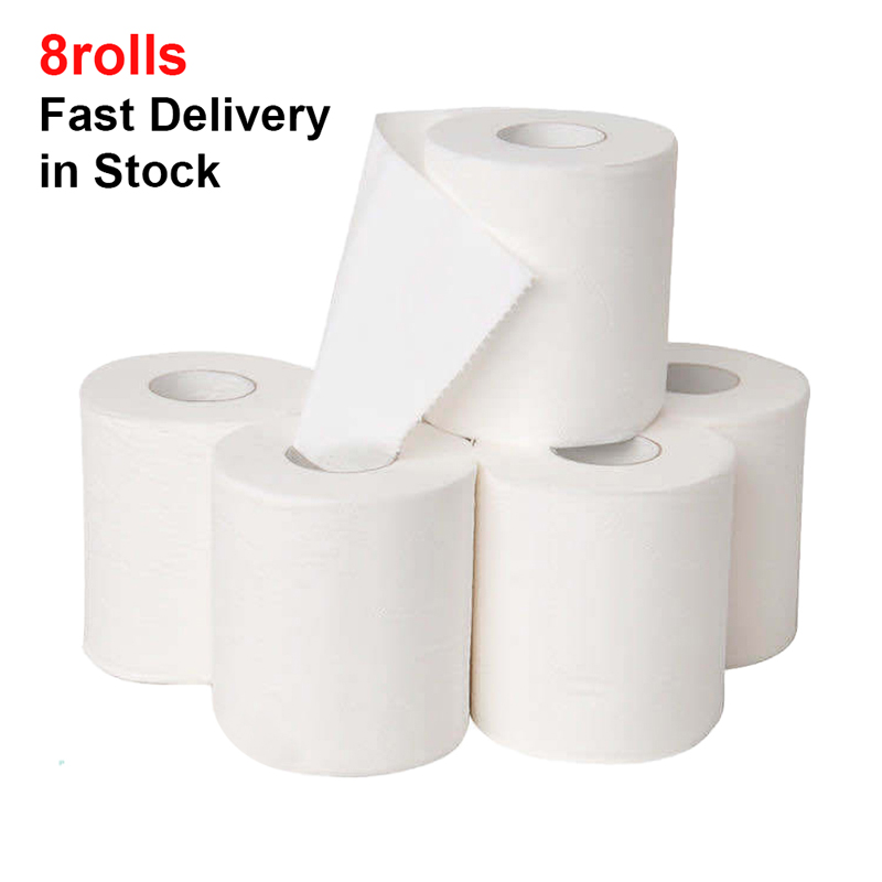 8 Rolls Toilet Paper Bulk Silky & Smooth Soft 3-Ply Toilet Paper Home Kitchen Toilet Tissue Highly Absorbent Toilet Paper Bulk