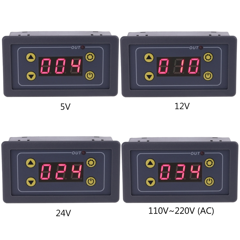5-24VDC 110V-220VAC LED Display Digital Time Delay Relay Module Timing Delay Cycle Timer Relay Control Switch Time Relay Module