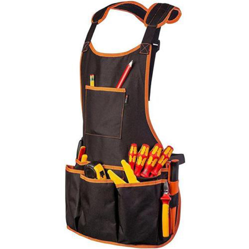 Tool Vest Apron Electrician Carpenter Work Wear Utility Bag Pocket Adjustable Tool Aprons With 16 Pockets
