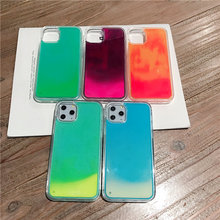 Two color Style Glowing Quicksand iPhone Case