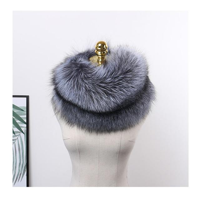 MS.MinShu роскошный шарф из натурального Лисьего меха, шарф из лисьего меха, большой размер, шаль из натурального Лисьего меха, зимний женский палантин, бесплатная доставка