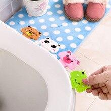 Ring-Handle Seat-Cover Toilet Lifter Cute Cartoon Adhesive Pedestal Antifouling Creative