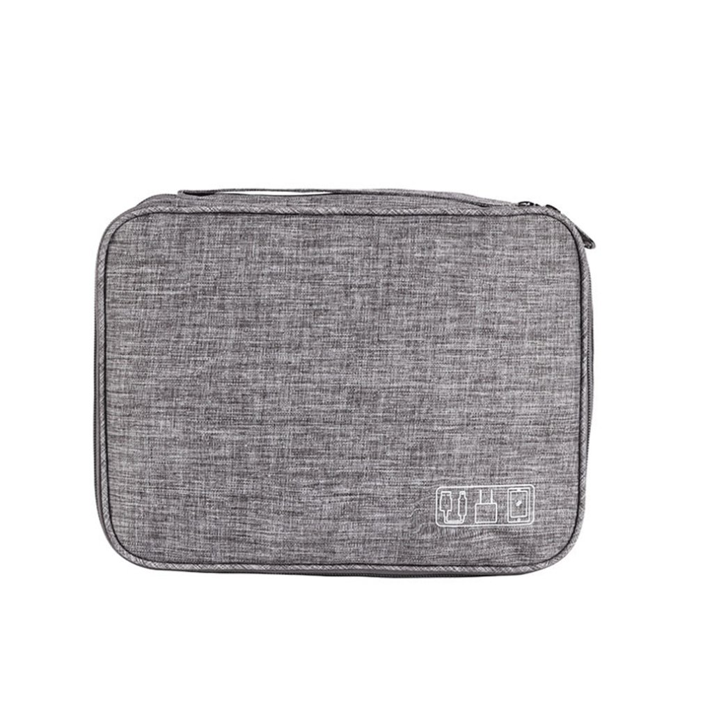 Electronic Digital Storage Bag Cationic Polyester Data Cable Storage Bag Multi-Function Flat Digital Package